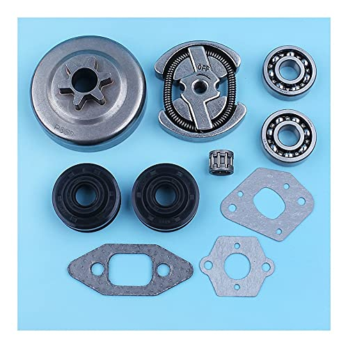 LLXXD 3/8'-6T Clutch Drum Crank Bearing Oil Seal Gasket Set For For Partner 365 405 For JONSERED 2035 2036 2040 2041 For Chainsaw Replacement Part