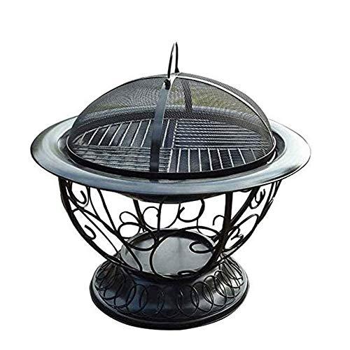 WERCHW Fogón al Aire Libre Bowl-Ampliación de Madera en Rollo Burning Patio y Patio Trasero Fogón de Exterior con Pantalla de Chispa,Chimenea Poker,Estufa Brasero Grill
