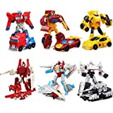 6 Confezioni Robot Transformer Action Figure, Heroes Rescue Bots Toy, Robot E Veicoli Set Di Gioco, Set Di Modelli Di Auto Robot, Set Di Modelli Di Deformazione Auto, Giocattolo Per Bambini Robot, Gio