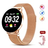 Smart Watch for Men Women with All-Day Heart Rate Blood Pressure Sleep Monitor