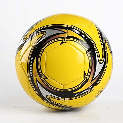 Rarlon Thermisch gebundener Fußball Ball Größe 5 Profi Match Fußball Anti Rutsch Fußballspiel im Innen und Außenbereich Fußball (Gelb)
