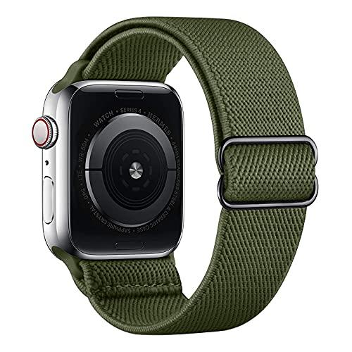 Vecann Correa De Nailon para Apple Watch Correa 38 mm 40 mm 42 mm 44 mm, Correa Ajustable Elástica Trenzada Transpirable Pulsera De Repuesto Compatible Con Apple iWatch Series 6 5 4 3 2 1 SE
