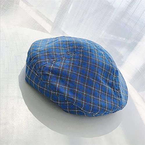Htipdfg Chapeau Femmes Girl Béret Artiste de la Laine Chaude Hiver Bonnet Hat Cap Vintage Plain Béret Chapeaux Solid Couleur élégante Casquettes d'hiver (Color : Blue, Hat Size : XL)