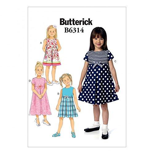 Butterick 6314 Schnittmuster für Mädchenröcke, Plissee