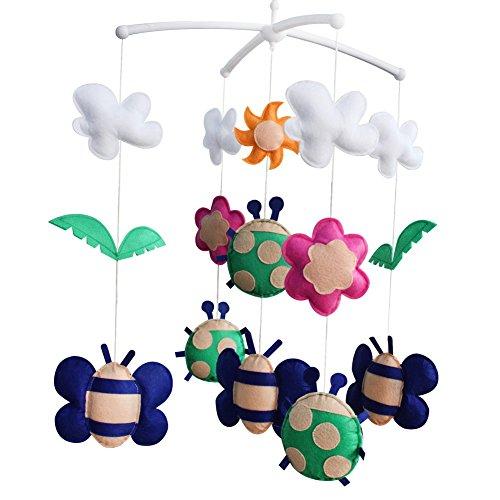 Décoration de pépinière de cadeau de jouet mobile de lit de bébé fait main pour 0-2 ans, MQ23