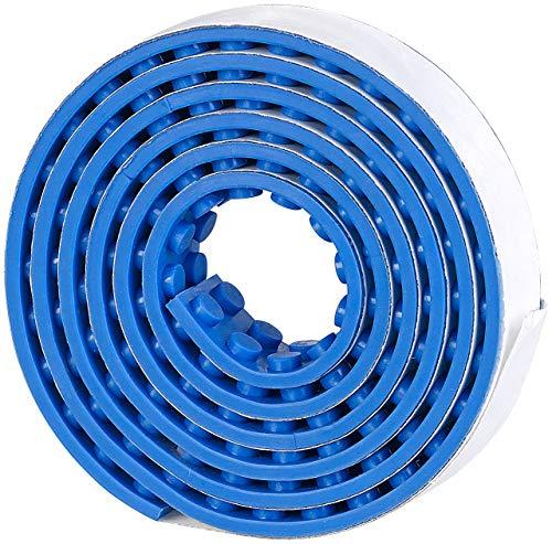 infactory Kinder Spielzeug: Selbstklebendes Spielbaustein-Tape für gängige Systeme, 1 m, blau (Spielbaustein-Bänder)