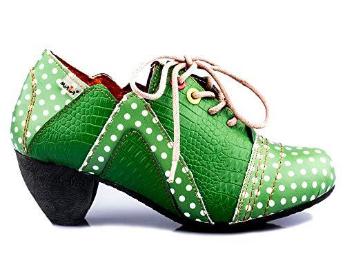 TMA 8977 Damen Halbschuhe grün - EUR 39