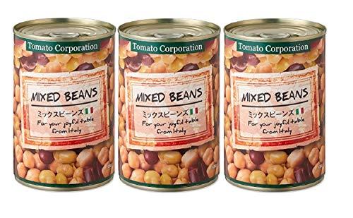 トマトコーポレーション ミックスビーンズ(イタリア産) EO缶 400g×3個