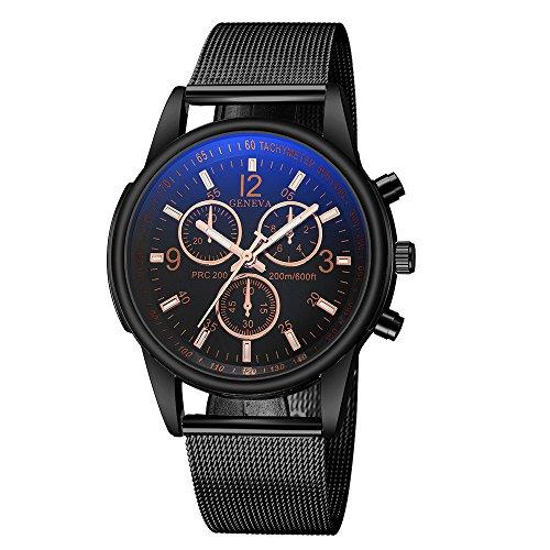 Luxury Men'S Watches Analog Quartz Silicone Strap Big Dial Wrist Watch...