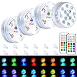 Led Pool Lights, HOMLY Pool Lights for Above Ground Pools, Inground Pool Light with Suction Cups, Magnetic Pool Light, Submersible Led Lights with Remote, Waterproof Led Lights Color Changing 4 Sets