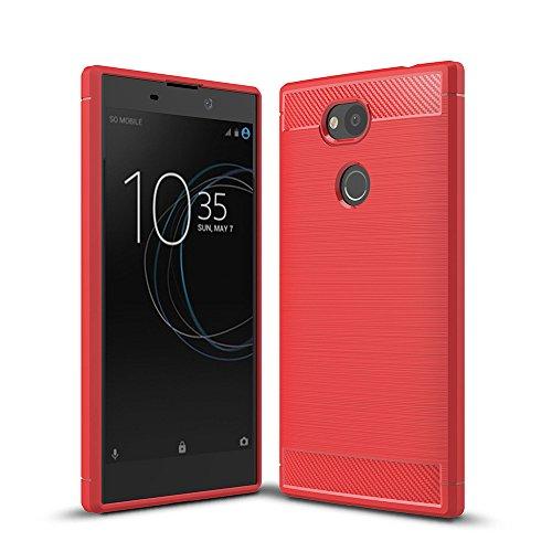 WindTeco Sony Xperia L2 Hülle, Premium Ultra Slim Leicht weiches TPU Protector Phone Hülle Handy Schutzhülle Schale Bumper für Sony Xperia L2 Smartphone