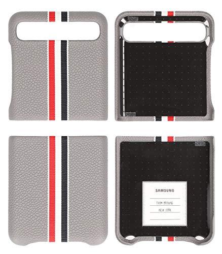 Neu Samsung Leder Hülle Cover für F700 Galaxy Z Flip - Thom Browne Edition
