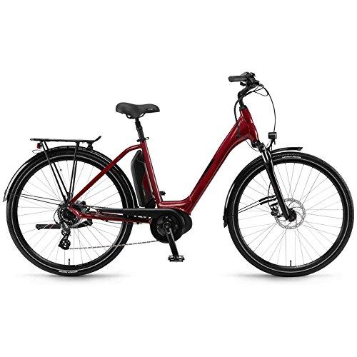 Winora Bike Sima 7 donna ACTIVE 400Wh 28'' 7v rosso taglia 54 2018 (City Bike Elettriche)/E-Bike Sima 7 woman ACTIVE 400Wh 28'' 7s red size 54 2018 (Electric City Bike)