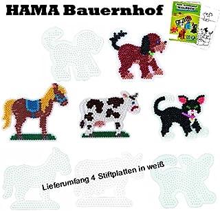 Hama 4556 3 St/ück Katze Blisterpackung gro/ße Stiftplatten Pferd Hund
