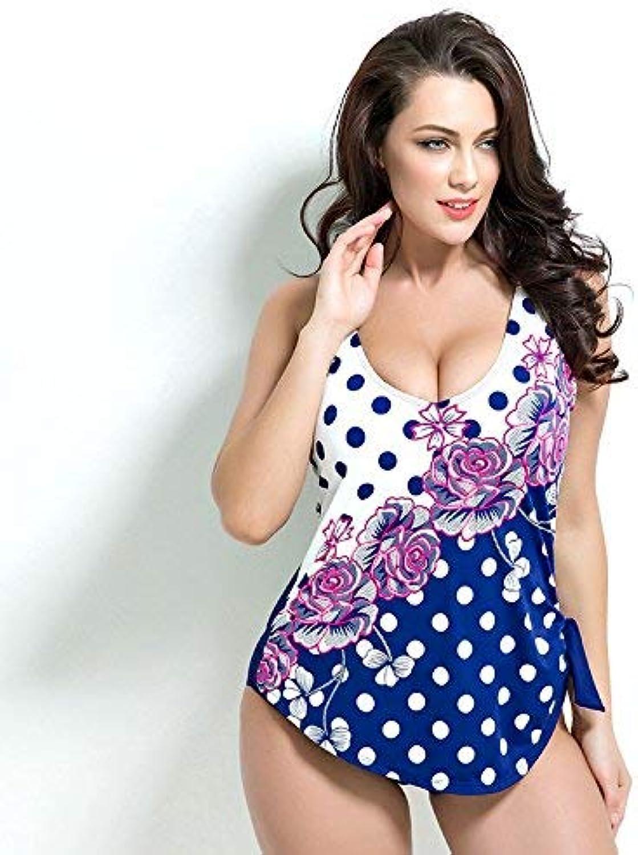 Oudan Damen Siamese Siamese Siamese Swimwear Sexy Swimwear Modischer Punkt-Badeanzug, Weiß Point, 50 (Farbe   Wie Gezeigt, Größe   Einheitsgröße) B07M7S9WWH  Im Gegensatz zu dem gleichen Absatz 3535e3