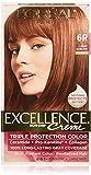 L'Oreal Paris Excellence Creme Triple Protection Hair Color, Light Auburn (Warmer) [6R] 1 ea (Pack of 6)