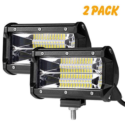 Auto Scheinwerfer mit 9 LEDs LED Arbeitsscheinwerfer LED 12V rund LE 2er Pack Zusatzscheiwerfer 27W