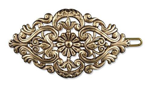 Rivelle Damen Trachten Haarspange alt-Gold Haarschmuck Vintage Hochzeit Metall Gold