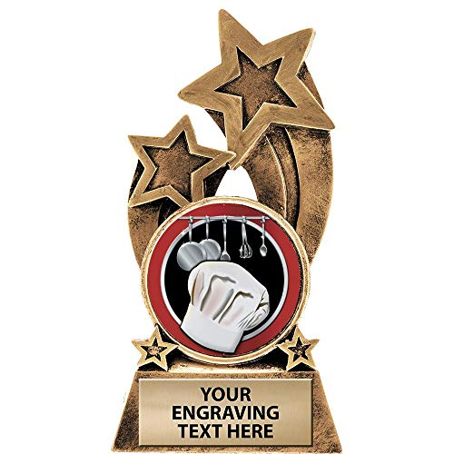 Crown Awards Cooking Trophy, 6' Glory Resin Cooking Trophies with Free Custom Engraving Prime