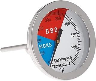 YUZI - Termometro da barbecue con indicatore di calore a carbone, 2 pollici, 550 F