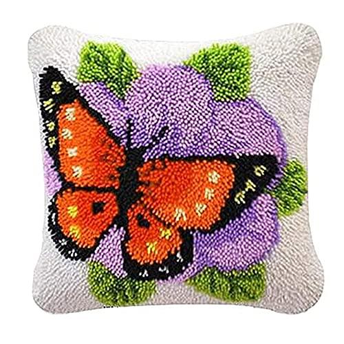 DIY Kits de gancho de retención for adultos Hilados Cojín bordado Crafts Cruz Kits de puntada for adultos de los niños arte de DIY for la decoración casera los 40 * 40cm Decoración para el hogar