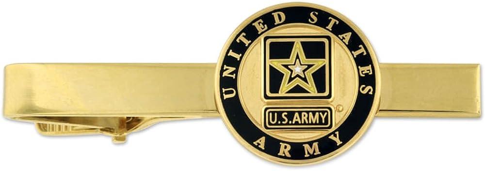 PinMart Gold US Army Military Tie Clip Tie Bar Veteran Gift