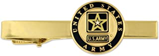 Gold US Army Military Tie Clip Tie Bar Veteran Gift