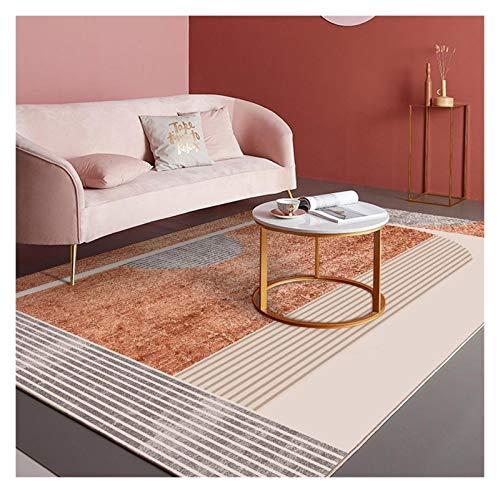 Kfdzsw Teppich Große Teppiche und Teppich Geometric Boden Carper for Wohnzimmer-Mädchen-Rosa Teppich Nordic Home Decor Anti Rutsch-Matte (Color : 4, Size : 160x230cm)