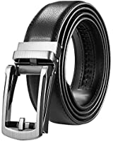 Utop Belts,Mens Belt, Dress Belt and Automatic Slides Ratchet Genuine Leather Belts for Men, Adjustable Belt With Wide 1.38Inch (blackstyle1)