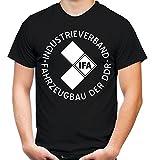 IFA Männer und Herren T-Shirt | DDR Trabant Wartburg Simson | M1 (Schwarz, XXXL)