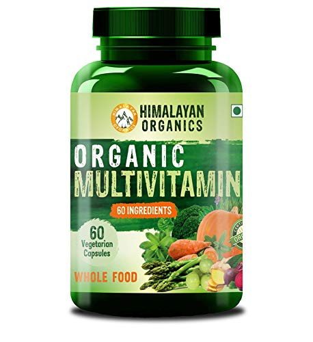 Himalayan Organics Organic Multivitamin with 60+ Certified Organic Extracts 60 Vegetarian Capsules (60)
