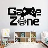 woyaofal Game Zone Wall Decor Video Vinilo Pegatinas de Pared para Habitaciones de niños Extraíble Decoración del hogar Arte Mural 72X42 CM