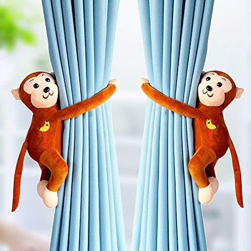 Tolyneil 2 stücke AFFE Vorhang Schnalle Raffhalter Halter Fenster Vorhänge Haken für Kinder Zimmer Dekoration