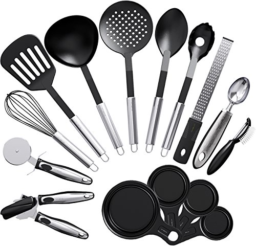 Vremi 15 Piece Kitchen Gadgets Cooking Utensils Set - Kitchen Gadgets and Tools Cooking Utensil Set...