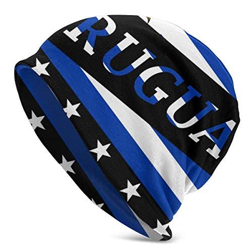 Mxung Bandera de Uruguay, fino, holgado, holgado, de punto, gorro Hiphop, para hombre y mujer