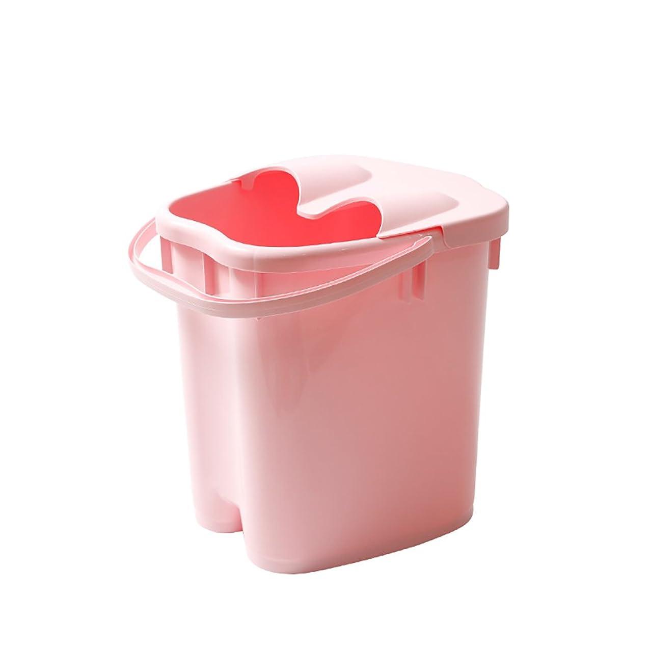 ペネロペ週間ほのめかすフットバスバレル厚いプラスチックマッサージフットバスは、家庭の足湯20Lの大容量高水レベルを高め22 * 30 * 40センチメートル (色 : Pink)