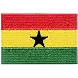 Ghana Flagge National Bestickter Aufnäher zum Aufbügeln/Annähen