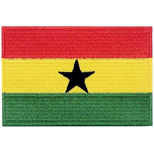 Ghana Vlag Patch Geborduurde Applique Ghanese IJzer Op Naai Op Nationaal Embleem