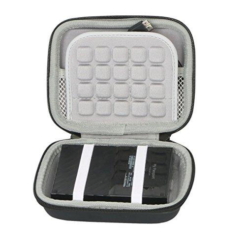 Hart Reise Schutz Hülle Etui Tasche für WD My Passport Mobile WDBYNN0010BBK-WESN 1TB 2TB 3TB 4TB Externe Festplatte von co2CREA (Black)