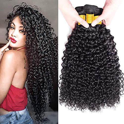 FZY Capelli Umani Ricci Naturale Brasiliano Capelli Veri Ricci Extension Capelli Veri Tessitura Ricci Human Hair 3 Bundles 10 12 14Pollici
