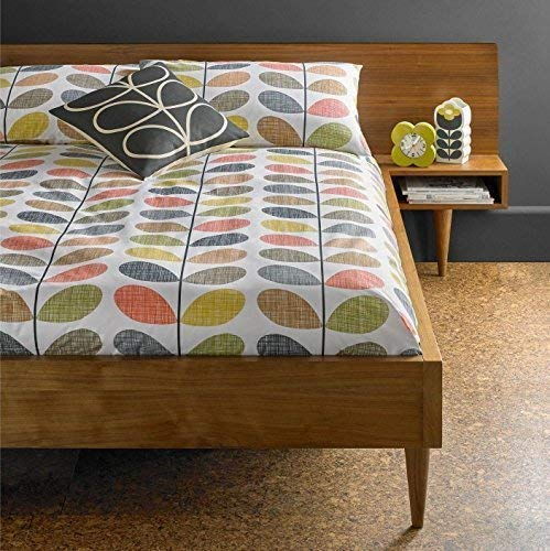 ORLA KIELY Scribble STEM Orange Yellow 100% Cotton 200TC King Size 3 Piece Bedding Set