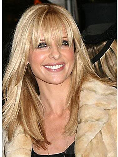 Mode Perücken WIGSTYLE Monofil (1 Zoll) lang ziemlich geradlinig menschlichen reines remy Haar der Frau capless Perücke , blonde