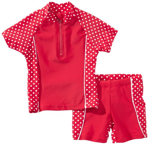 Playshoes Mädchen 2-teiliges Badeanzug ,Rot (8 rot ),86/92