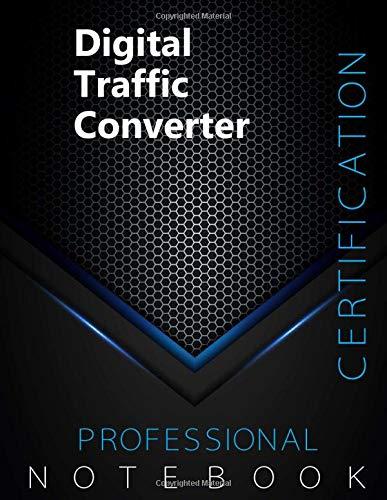 "Digital Traffic Converter Certification Exam Preparation Notebook, examination study writing notebook, Office writing notebook, 140 pages, 8.5"" x 11"", Glossy cover, Black Hex"