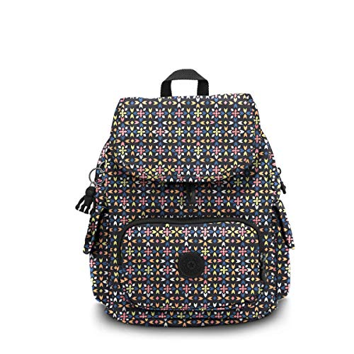 "Kipling Women's City Pack Medium Backpack, Floral Mozzaik, 10.5""L x 14.5""H x 6.75""D"
