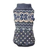 Yowablo Mantel Rollkragenpullover Haustier Hund Katze Winter Warm Kostüm Kleidung (XXL,4- Grau)