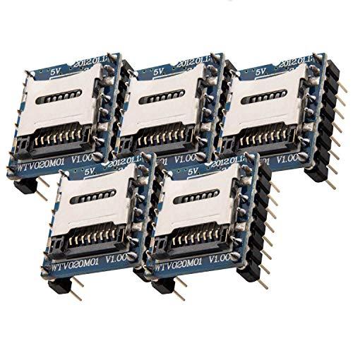 AZDelivery 5 x WTV020 Sound Audio Modul SD Card für Arduino