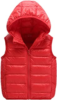82f872d798 Unisex Bambini Bambino Gilet Piumini Inverno Cappotto con Cappuccio  Smanicato Giacche per Ragazze Ragazzi