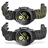 Onewly Compatible with Samsung Galaxy Watch 3 45mm Band,Multi-Functional Outdoor Survival Umbrella Rope 22mm Watch Strap for Galaxy Watch 46mm / Gear S3 Frontier/Classic/Vivoactive 4 with Saber Card