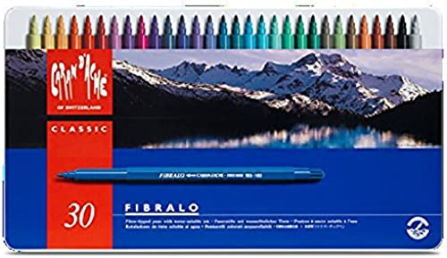 CARAN d'ACHE - FIBRALO Aquarelle Filzstifte in Metallbox - 30 Stück
